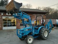 2014 LS G3033 tractor with loader and backhoe, only 135 hours, 1 owner, warranty