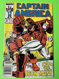Captain America #341 - 1st Lemar Hoskins as Battlestar Marvel 1988 Newsstand FR