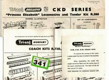 G341 instructions for Tri-ang CKD Princess Elizabeth + coaches