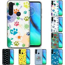 TPU Phone Case for Motorola G Stylus,G7 Play,Power,Plus,Cute Background Print