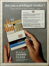 Rothmans Crown Filter Cigarettes Are You A Privileged Smoker? Vintage Ad 1966