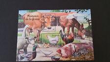 France Bloc de timbres n° 69 Neuf - Série nature de France - Animaux de la ferme