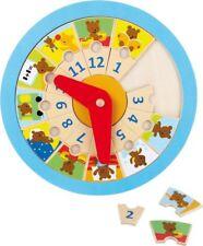 Orologio in legno Impara l'ora Piccolo orso.gioco bambino