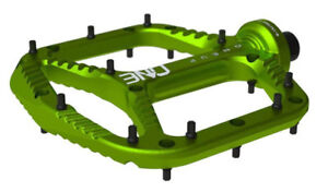 OneUp Components Aluminum Platform Flat MTB Mountain Bike Pedals Green