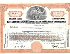 1965 St Louis-San Francisco RR Stock Certificate  Frisco