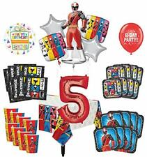 Mayflower Products Power Rangers 5th Birthday Party Supplies 8 Guest Decoration