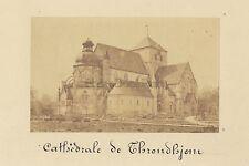 Cathédrale de Nidaros Trondheim Norvège Norway Vintage albumine ca 1875
