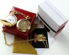 Muhammad Ali Signé Or 24k Montre de poche en cadeau Case Boxe Memorabilia