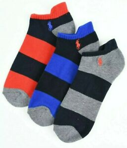 Polo Ralph Lauren 3 Pairs Mens Classic Sport Cushion Comfort Sole Socks Fits...