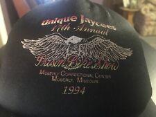vtg 80s 90s 1994 Prison Run Motorcycle Show SnapBack Hat Trucker Harley Davidson