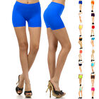 Womens Stretch Casual Shorts Biker Exercise Yoga Workout Size XS,S,M,L Seamless