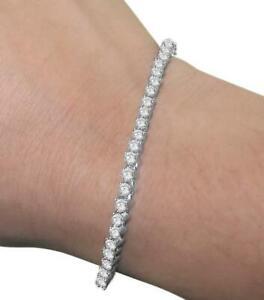 2 Carat Real Diamond Tennis Bracelet I1 G Prong Set 14K White Yellow Rose Gold