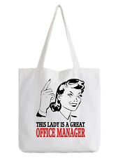 Office Manager Ladies Tote Bag Shopper Gift Offices Work Boss Job Management
