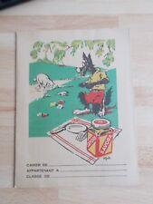 """Protège-cahier moutarde SAVORA thème """" le loup et l'agneau """" d'après J.Gault"""