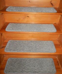 13 Step 9'' x 30''  1 Landing  28'' x 30'' Tufted Wool Woven carpet Stair Treads