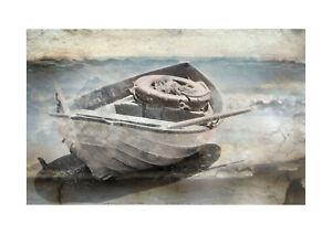 print  poster framed canvas vintage sea row boat rowing painting art ocean