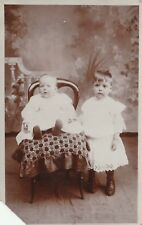"""Hundred Year old photo postcard from collection"" two children"