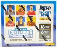 2020-21 Panini Contenders Draft Picks Collegiate Basketball Unopened Hobby Box