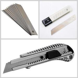Profi Aluminium Cuttermesser 18mm Cutter Teppich Messer + Ersatz Abbrechklingen