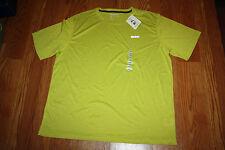 NWT Mens REEBOK Heather Lime Green Crew Neck Short Sleeve T-Shirt Sz M Medium