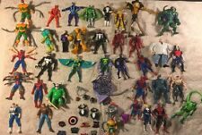 Huge Vintage 1980s-90s Action Figure Toy Lot ~ DC Comics Mixed Spiderman & More