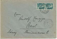 FRANKREICH 1945, Marianne 2 Fr (2x) Mef a. Pra.-Brief BISCHWILLER / BAS-RHIN