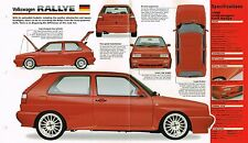 1990/1991 VW Volkswagen RALLYE SPEC SHEET/BROCHURE:Golf
