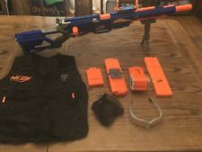 Nerf N-Strike Long Strike Longstrike CS-6 Sniper Rifle Blaster Gun With Clip Lot