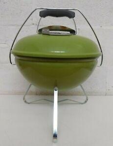 Weber Smokey Joe Premium Charcoal BBQ, Grill, Spring Green 37cm