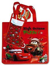 Disney Cars High Octane Fun Tote Bag with Gift Stocking