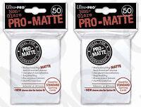 100 2pk ULTRA PRO Pro-Matte Deck Protector Card Sleeves Magic Standard White