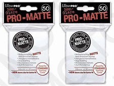 100 2pk ULTRA PRO Pro-Matte Deck Protector Card Sleeves Magic Standard White