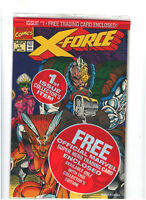 X-Force #1 NM- 9.2 Marvel Comics Sealed with Deadpool Trading Card 1991 Copy B