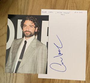 Oscar Isaac Signed Sheet 210mm x 140mm Star Wars Ex-Machina Inside Llewyn Davis