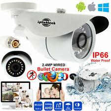 CCTV White Bullet Camera Full HD 1080p 2.4MP Outdoor 36 Lens 128AHD Night Vision