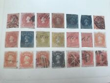 APPR 200 EARLY STAMPS CHILE COLUMBUS 1853 AND UP 6 ALBUMPAGES USED UNUSED