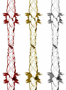 NEW CHRISTMAS GARLAND PULL OUT METALLIC FOIL 3D HANGING WALL,CEILING DECORATIONS