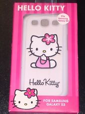 HELLO KITTY Case For Samsung Galaxy S3  NEW IN BOX SNAP ON PADDED BACK WHITE