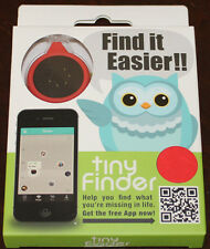 tinyFinder, Mini Bluetooth Device for Lost and Found, Brand NEW, Red / Black