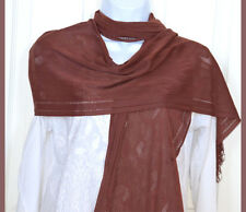 Net Stretchable soft touch Chocolate Brown Scarf, Stole, Wrap