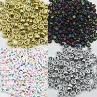 Fashion Multi-Colors Cube Alphabet Single Letter Acrylic Beads A - Z 100pcs