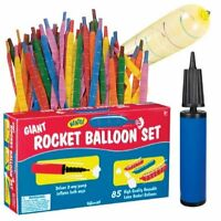 Toysmith Giant Long Jumbo Rocket Balloon Set 85 Balloons With Pump