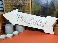 WOODEN ARROW CONFETTI SET SIGN Shape 34cm (x1) wood shapes wedding crafts blanks