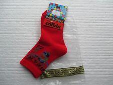 Nuevo 2 pares de calcetines de diseñador Pocholo en rojo y azul marino EUR tamaño 19/21 Oso De Peluche