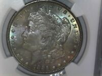 1885 P NGC MS64 Morgan Silver Dollar $1 1885-P NGC MS64 P Monster Rainbow Tone