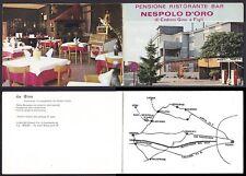 ROMA LARIANO 02 HOTEL RISTORANTE NESPOLO D'ORO Cartoncino PUBBLICITARIO DOPPIO