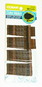 Conair 55352Z Color Match Styling Essentials Bobby Pins 90/Card QTY 18 Cards