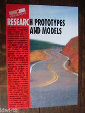 """Ital Design """"Research prototypes and Models"""" folleto/brochure/depliant 1998"""
