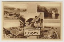 Dorset postcard - Greetings from Lulworth (Multiview showing 5 views)