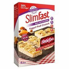 SlimFast Yoghurt Fruit Crunch Meal Replacement Bars Snack Weight Loss 16 X 56g